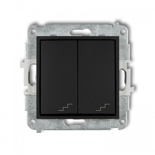 Mechanizm łącznika schodowego podwójnego MINI czarny mat 12MWP-33