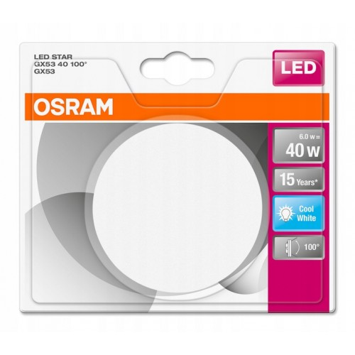OSRAM LED STAR 40 6W 4000K GX53 2888 4058075052888